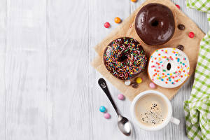Wallpapers Baking Doughnut Chocolate Coffee Candy Boards Three 3 Cup Spoon Food