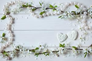 Bilder Perlen Valentinstag Herz Bretter