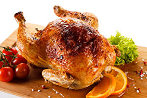 Images Roast Chicken Tomatoes Citrus Cutting board