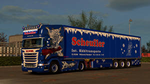 Image Scania Lorry Tuning Blue Cars