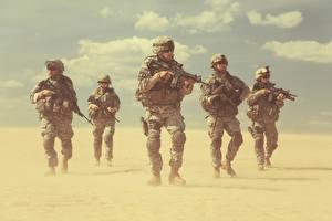 Hintergrundbilder Soldaten Sturmgewehr Uniform Heer