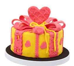 Hintergrundbilder Süßigkeiten Torte Weißer hintergrund Design Herz