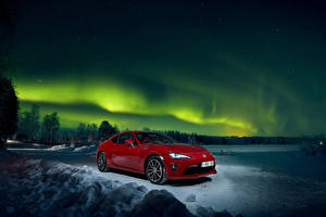 Hintergrundbilder Toyota Rot Metallisch Nacht 2016-18 GT 86 Worldwide Autos