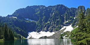 Bilder Vereinigte Staaten Park Gebirge Wälder See Mount Baker Snoqualmie National Forest Natur