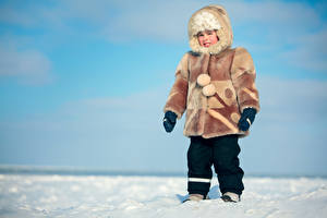 Fotos Winter Junge Pelzmantel Mütze Kinder