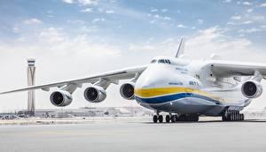 Bilder Flugzeuge Transportflugzeuge Russische An-225 Mriya Luftfahrt