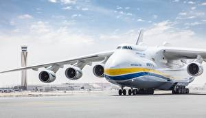 Bilder Flugzeuge Transportflugzeuge Russischer An-225 Mriya
