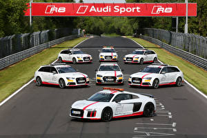 Images Audi Tuning Many White automobile