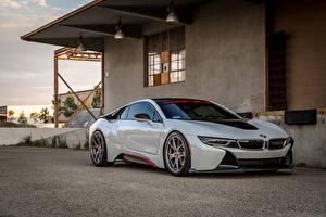 Hintergrundbilder BMW Metallisch Weiß 2016 Vorsteiner i8 VR-E Autos