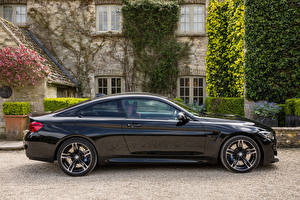 Pictures BMW Black Metallic Side 2017-18 M4 Coupe Cars