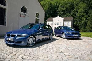 Hintergrundbilder BMW Blau Zwei Metallisch 2017 Alpina B3 S Bi-Turbo Cabrio, Alpina B3 S Bi-Turbo Coupe Autos
