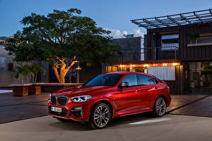 Wallpapers BMW Red Metallic 2018 X4 M40d Worldwide auto