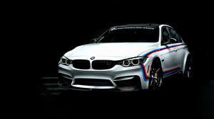 Desktop wallpapers BMW White Black background 3-Series F80 Cars