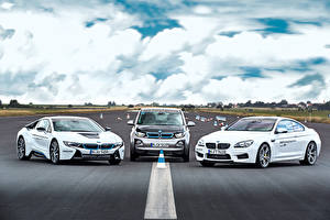 Photo BMW Three 3 White auto