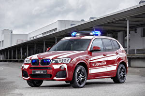 Pictures BMW Tuning Red Metallic 2016 X3 xDrive20d M Sport Feuerwehr automobile
