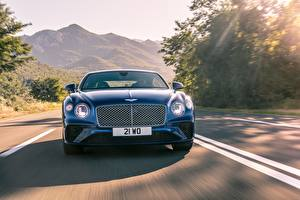 Image Bentley Front Motion Coupe Blue Continental GT 2017 Cars