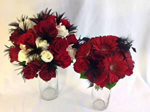 Hintergrundbilder Sträuße Rose Gerbera 2 Blüte