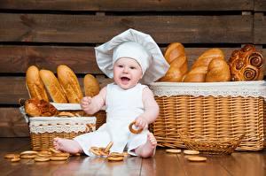 Hintergrundbilder Brot Küchenchef Der Hut Baby Kinder