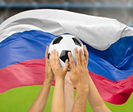 Hintergrundbilder Fußball Russland Ball Hand Flagge Russische Sport