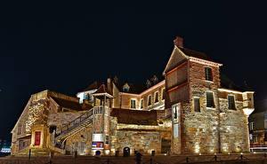 Hintergrundbilder Frankreich Gebäude Design Nacht Honfleur Städte