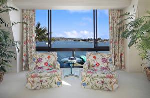 Fotos Innenarchitektur Wohnzimmer 2 Sessel Fenster