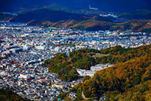 デスクトップの壁紙、、日本、京都市、住宅、都市