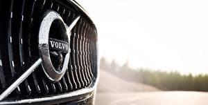 Bilder Logo Emblem Volvo Nahaufnahme V90 Cross Country automobil