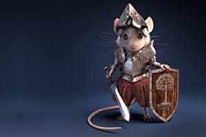 Images Mice Knight Warriors Swords Shield Armor Antonio Ferre