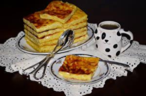 Hintergrundbilder Backware Tee Obstkuchen Tasse Teller
