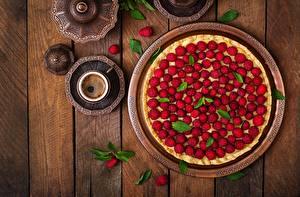 Bilder Obstkuchen Himbeeren Bretter