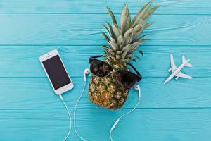 Image Pineapples Smartphone Headphones Glasses