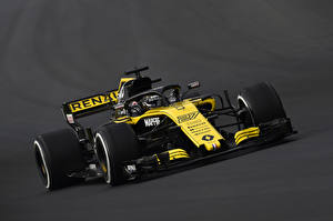 Photo Renault Formula 1 Gray background 2018 R.S.18 automobile Sport