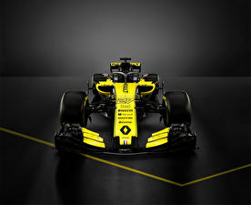 Wallpapers Renault Formula 1 Gray background Front 2018 R.S.18 automobile Sport