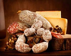Hintergrundbilder Wurst Käse Pilze Lebensmittel