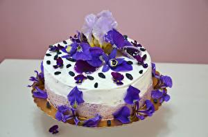 Fotos Süßware Torte Schwertlilien Design