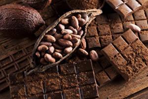 Bakgrunnsbilder Søt mat Sjokolade Nøtter Sjokoladeplate Kakaopulver