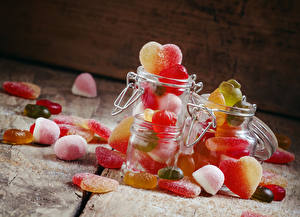 Fotos Süßware Marmelade Einweckglas Herz das Essen