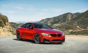 Bilder BMW Rot 2015-16 Dinan S1 BMW M4 Coupe Autos