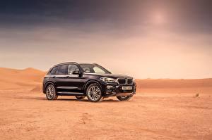 Hintergrundbilder BMW Schwarz Metallisch 2017 X3 xDrive30d M Sport Autos