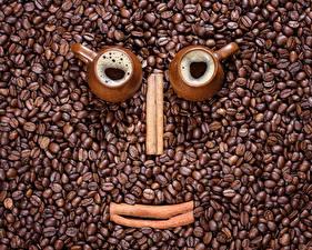 Bilder Zimt Kaffee Tasse Zwei Getreide Design das Essen