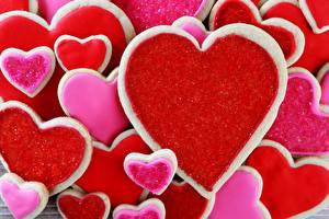 Image Cookies Many Closeup Heart Food