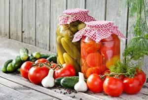 Hintergrundbilder Gurke Tomate Einweckglas Lebensmittel