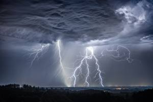 Fotos Naturkraft Blitze Gewitterwolke