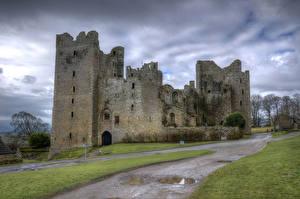 Hintergrundbilder England Burg Ruinen Castle Bolton