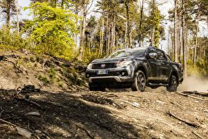 Hintergrundbilder Fiat Pick-up Grau 2016 Fullback Double Cab auto