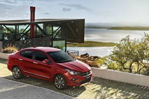 Fondos de escritorio Fiat Color burdeos Metálico Rojo 2018 Cronos Precision automóviles