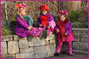 Image Parks Doll Little girls Three 3 Hat Grugapark Essen Nature