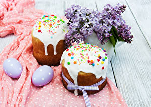 Bilder Feiertage Ostern Kulitsch Syringa Bretter Eier Zwei Design