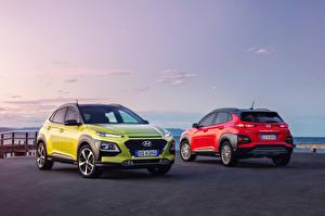 Desktop wallpapers Hyundai 2 Metallic 2017-18 Kona automobile