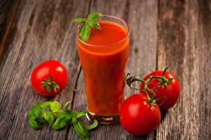 Fotos Saft Tomate Bretter Trinkglas Lebensmittel